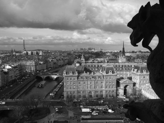 Notre Dame creepy 2 bw to print