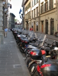 Mopeds own the streets in Florence