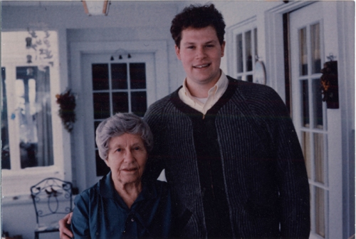 Steve and Grandma Hutchins in about 1986