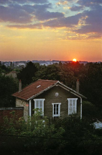Paris 1997 Apartment sunset BLOG