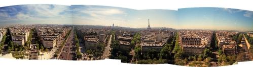 Paris 1997 Arc de Triomphe panorama BLOG