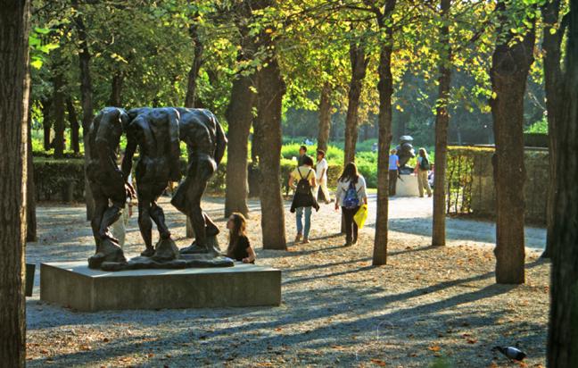 Paris 1997 Sunset at Rodin BLOG