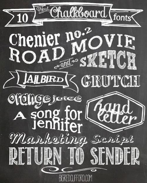 ten+free+download+Chalkboard+fonts