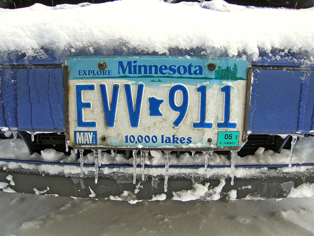 Golf frozen license plate BLOG