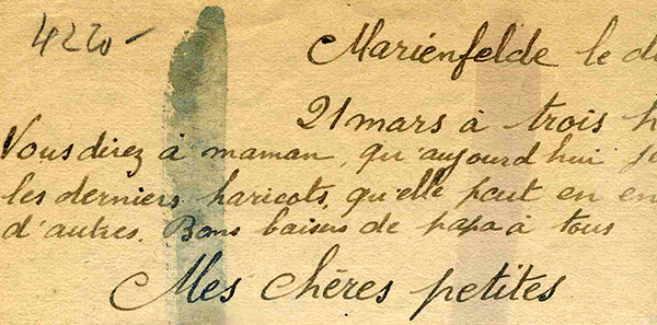 Marcel letter detail