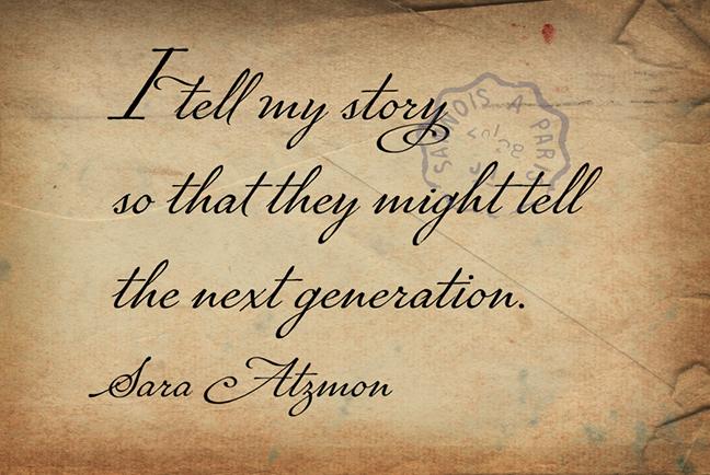 Marcel Sara Atzmon quote BLOG