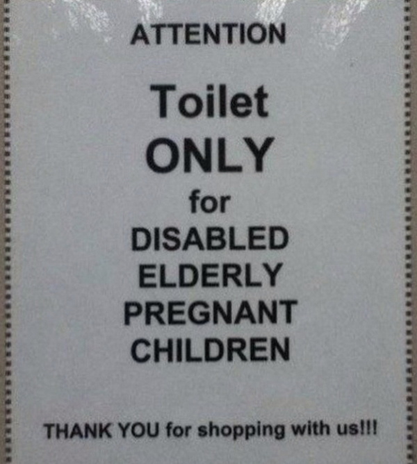Toilet for disabled elderly