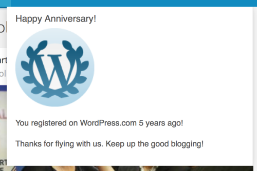 WordPress five years