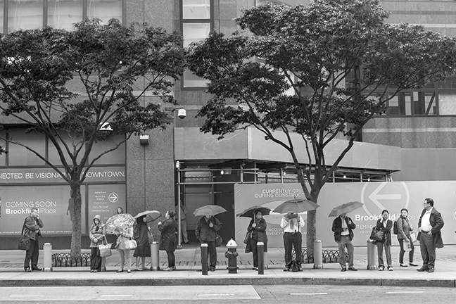 Waiting for bus 1110729 BW BLOG