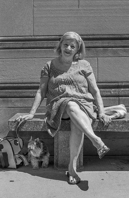 Woman on a bench 1120548 BW BLOG