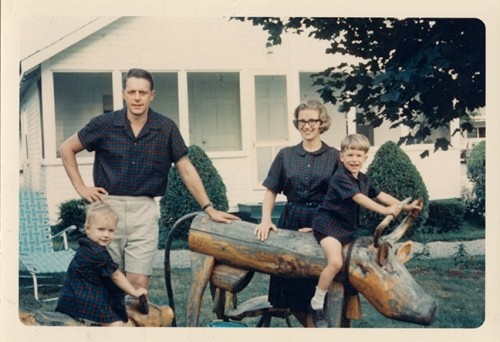 The Skinner Family at the Country Fair Motel in Damariscotta, Maine, 1965.