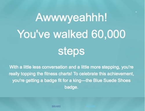Blue Suede Shoes Badge Fitbit