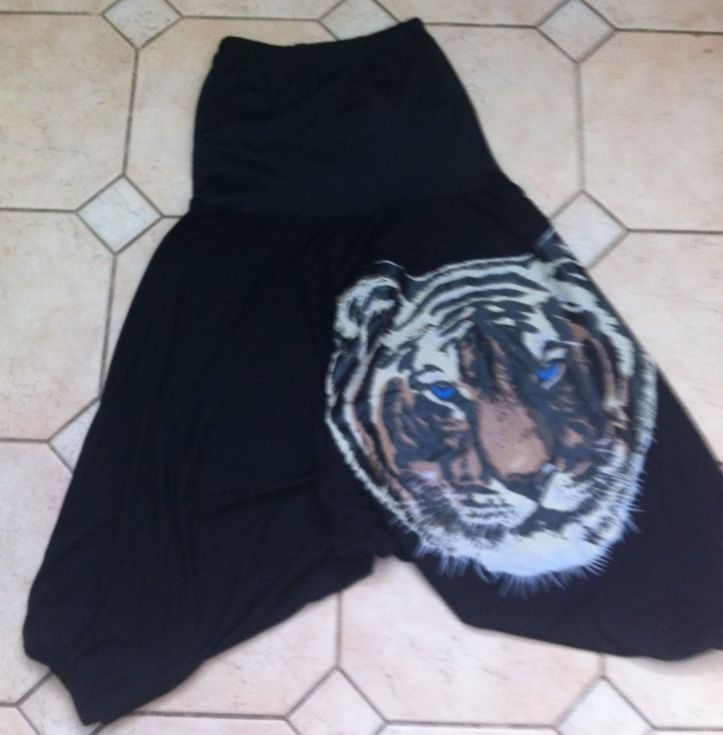 eBay tiger pants on floor BLOG