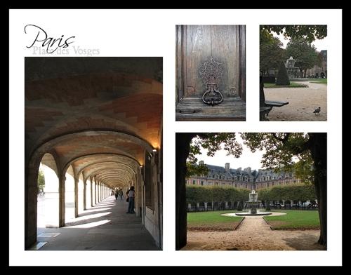 Place des Vosges postcard BLOG