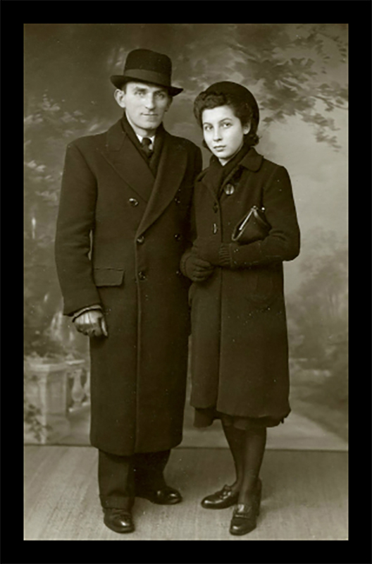 Israel Gradstein and Louise Gradstein Diller in February 1940 BLOG