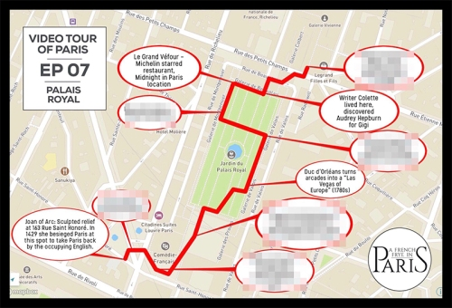 Corey Frye walking tour map