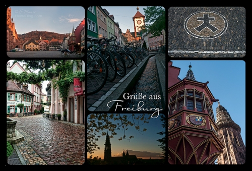 Freiburg postcard BLOG