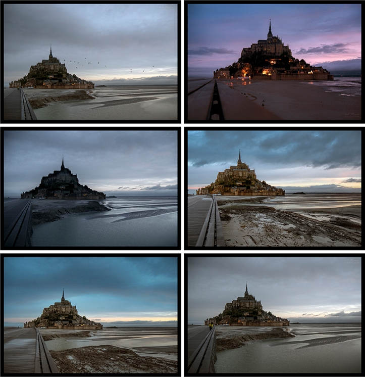 Mont St Michel light change BLOG